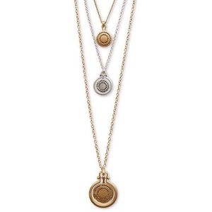 Lucky Brand,triple-Layer Pendant Necklace, NWT